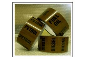 Oil Pipe Identification Tapes (with text)