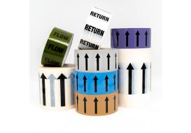 Directional Pipe Identification Tapes