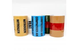 Pipe Identification Tapes (with text) 150mm wide