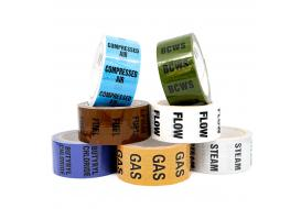 Pipe Identification Tapes (with text) 50mm wide