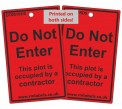 Do Not Enter Door Hanging Tag Reusable