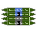 Domestic Hot Water Flow Pipe Marker PMW27a