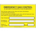 Emergency Gas Control Label GAS07SA