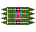 Fire Protection Water Pipe Marker PMF03a