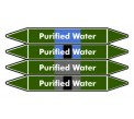Purified Water Pipe Marker PMW57a
