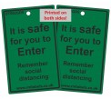 Safe To Enter Door Hanging Tag Reusable