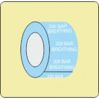 200 Bar Breathing Pipe Identifcation Tape Code ID600ST50X6LB