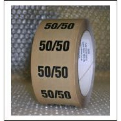 50%/50% Pipe Identification Tape ID220T50YO