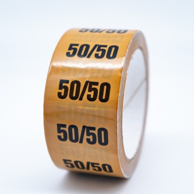 50%/50% Mix Pipe Identification Tape for Gas - R M Labels - ID220T50YO