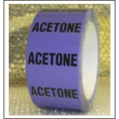 Acetone Pipe Identification Tape ID501T50V
