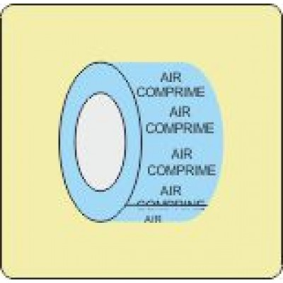 Air Comprine Pipe Identifcation Tape Code ID601ST50LB6