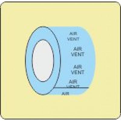 Air Vent Identification Tape Code ID605ST50LB6