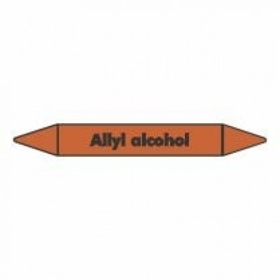 Allyl Alcohol Pipe Marker self adhesive vinyl code PMO08a