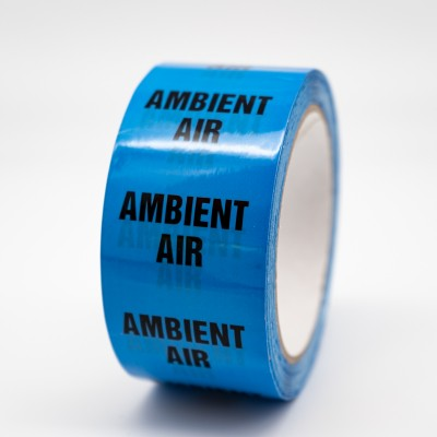 Ambient Air Pipe Identification Tape R M Labels - ID177T50LB