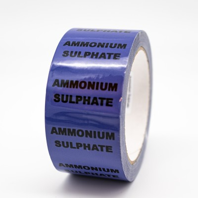 Ammonium Sulphate Pipe Identification Tape - R M Labels - ID506T50V