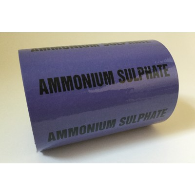 Ammonium Sulphate Pipe Identification Tape 150mm - Violet 22-C-37 - R M Labels - ID491T150V6
