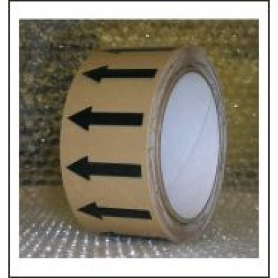 Arrows Pipe Identification Tape (Yellow Ochre) ID003A50YO