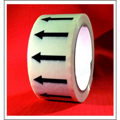 Arrows Pipe Identification Tape (White) ID001A50W