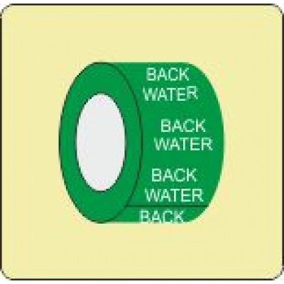 Back Water Pipe Identification Tape Code ID300ST50X6G