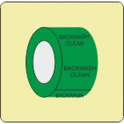 Backwash Clean Pipe Identification Tape Code ID304ST50G6