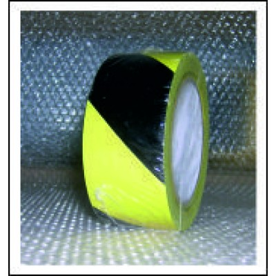 Black and Yellow Striped Floor Marking Tape FMT001YB50