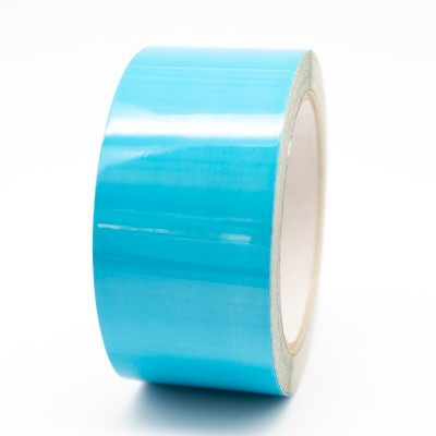 Blue External Pipe Identification Tape 50mm wide - BS 18-E-51 - R M Labels - EXD256C50