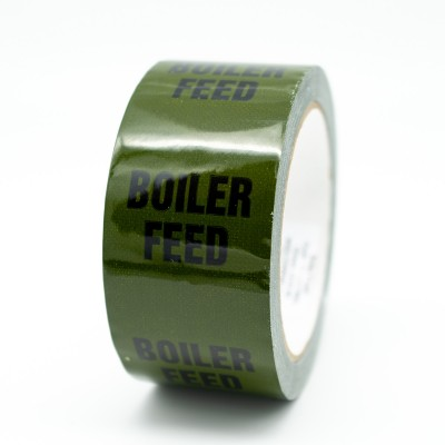 Boiler Feed Pipe Identification Tape - Green 12-D-45 - R M Labels - ID145T50G