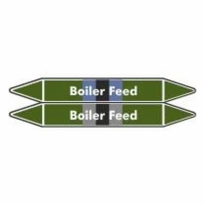 Boiler Feed Pipe Marker self adhesive vinyl code PMW01a