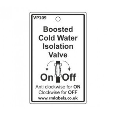 Boosted Cold Water Isolation Valve with pictogram Code VP109