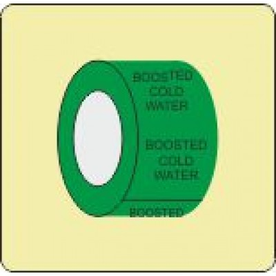 Boosted Cold Water Pipe Identification Tape Code ID309ST50G6