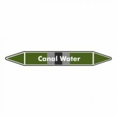 Canal Water Pipe Marker self adhesive vinyl code PMW03a