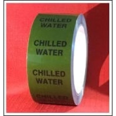 Chilled Water self adhesive Pipe Identification Tape Code ID152T50G