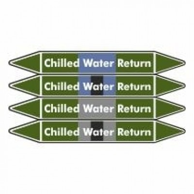 Chilled Water Return Pipe Marker self adhesive vinyl code PMW06a