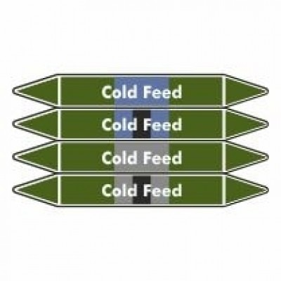 Cold Feed Pipe Marker self adhesive vinyl code PMW10a