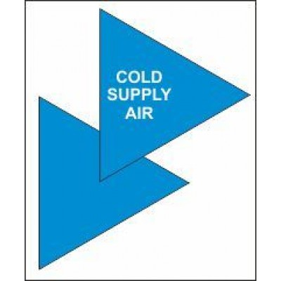 Cold Supply Air Triangle for Air Conditioning Ductwork AC001