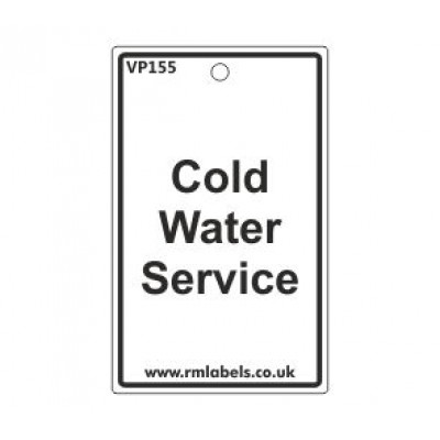 Cold Water Service Label Code VP155