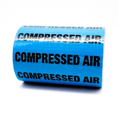 Compressed Air Pipe Identification Tape 150mm - Light Blue 20-E-51 - R M Labels - ID451T150LB