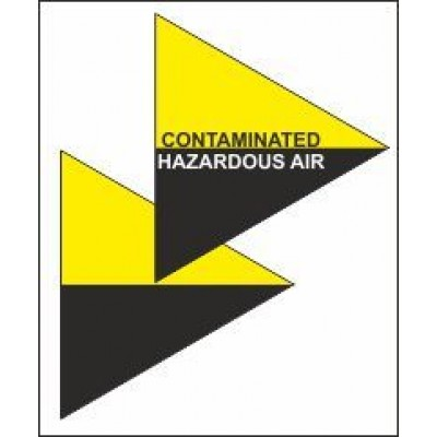 Contaminated Hazardous Air Triangle for Air Conditioning Ductwork AC003