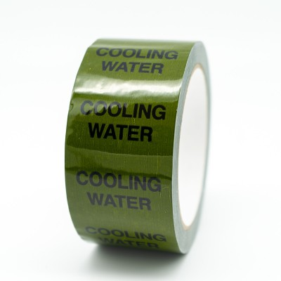 Cooling Water Pipe Identification Tape - Green 12-D-45 - R M Labels - ID153T50G