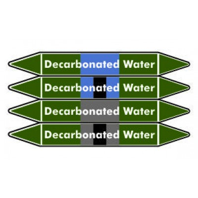 Decarbonated Water Pipe Marker PMW22a