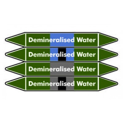 Demineralised Water Pipe Marker PMW24a