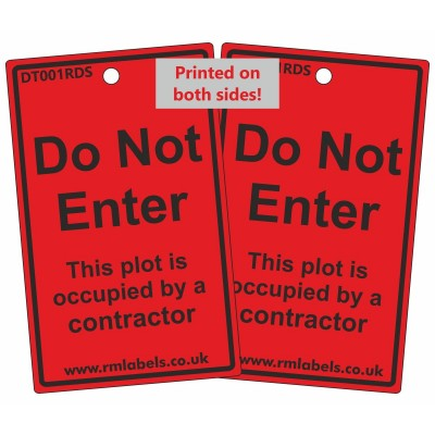 Do Not Enter Door Hanging Tag - Reusable - R M Labels