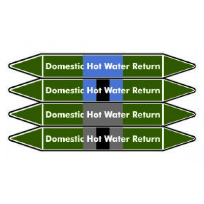 Domestic Hot Water Return Pipe Marker PMW28a
