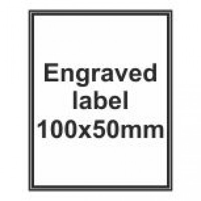Engraved Traffolyte Label 100x50mm