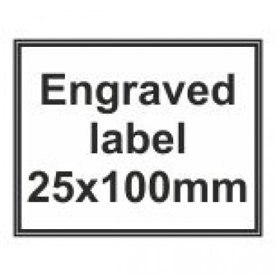 Engraved Traffolyte Label 25x100mm
