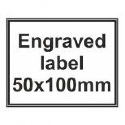 Engraved Traffolyte Label 50x100mm