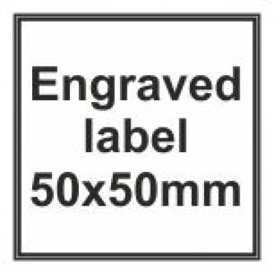 Engraved Traffolyte Label 50x50mm