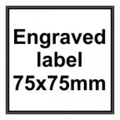 Engraved Traffolyte Label 75x75mm