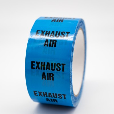 Exhaust Air Pipe Identification Tape - R M Labels - ID179T50LB