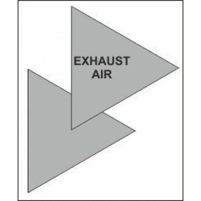 Exhaust Air Triangle for Air Conditioning Ductwork AC004